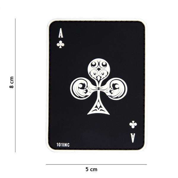 Patch 3D PVC ace of clubs