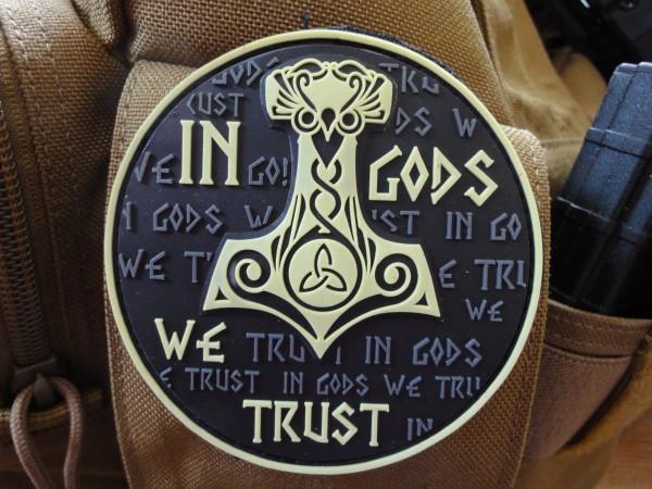 PW in god we trust 3D PVC Patch