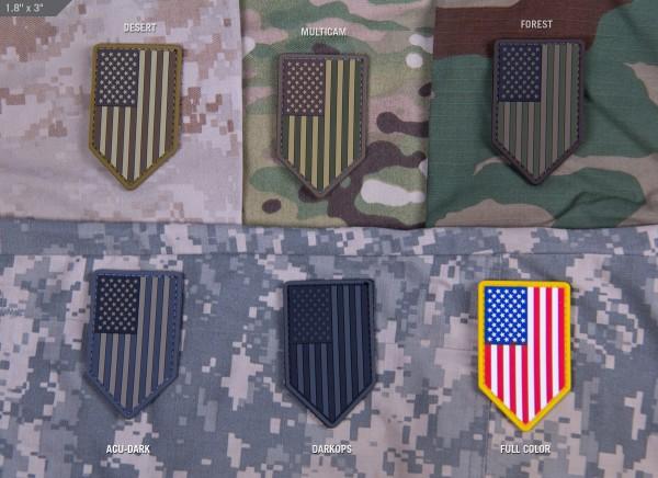 Mil Spec Monkey Patch US Flagge Schild PVC