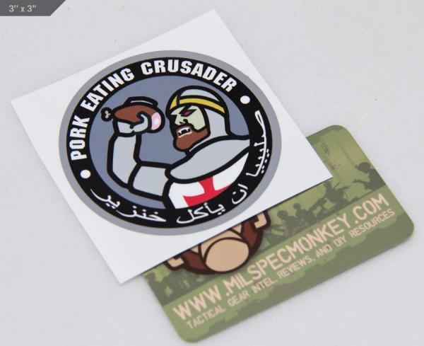 Mil Spec Monkey Pork Crusader Decal Sticker