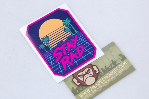 Mil Spec Monkey Stay Rad Sticker