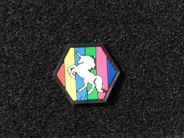 PW Unicorn 3D PVC Hex patch nachtleuchtend