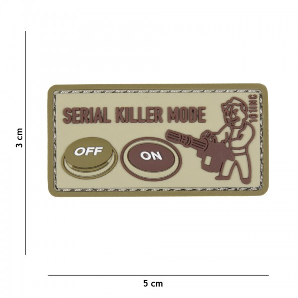 3D PVC serial killer Patch