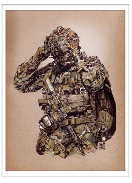 Marc Lee Military Art MARSOC (gerahmt)