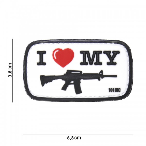 3D PVC i love my M4 Gun Patch