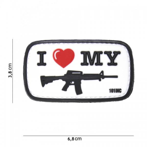 3D PVC i love my M4 Gun Patch