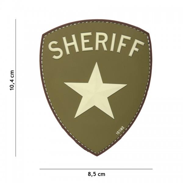PVC 3D Sheriff Patch