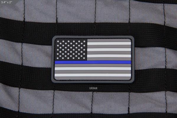 Mil Spec Monkey Patch US Flag PVC Thin Blue Line