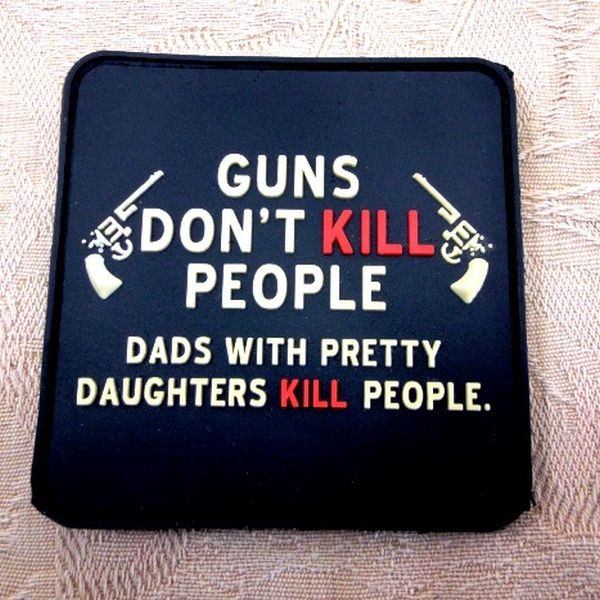PW Guns dont kill people 3D PVC Patch