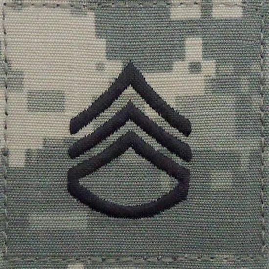 ACU Staff Sergeant E6 Rang Patch