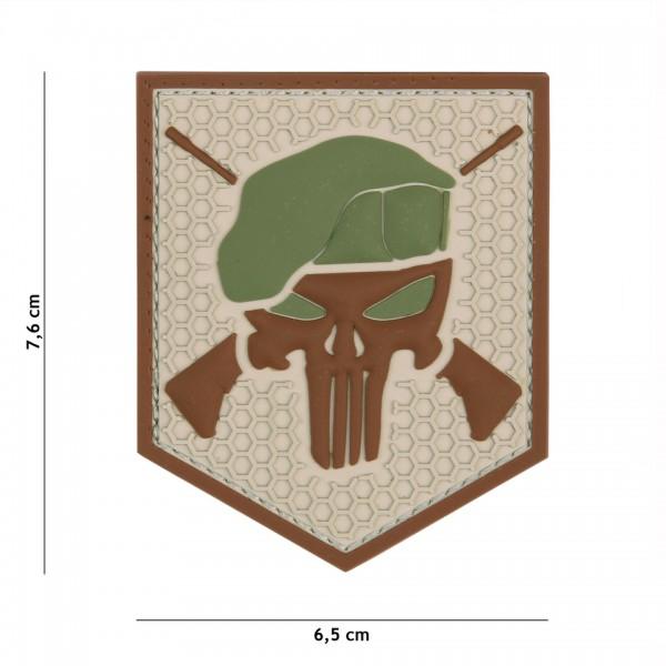 3D PVC Commando Punisher Patch