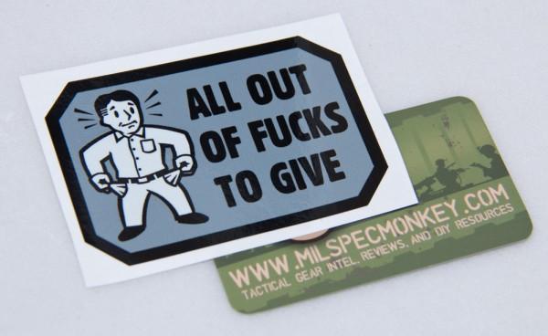 Mil Spec Monkey All Out Sticker
