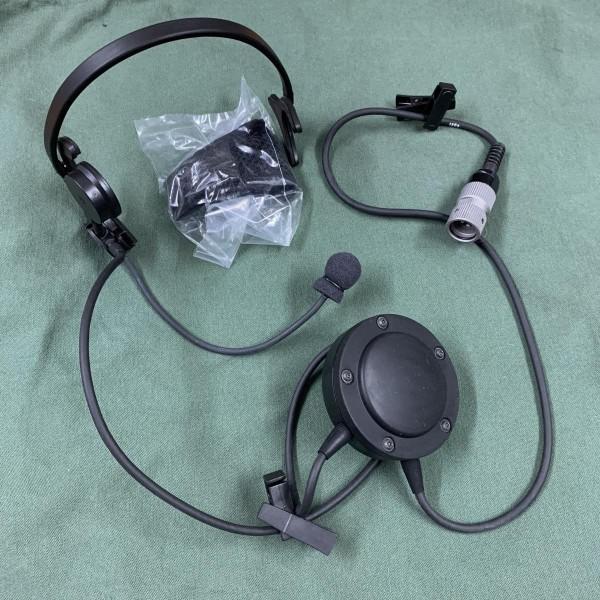 Thales PRC Radio Tactical Headset mit U-229 Stecker und PTT Mbitr
