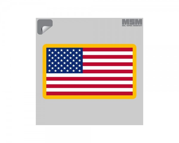 Mil Spec Monkey US Flag Sticker
