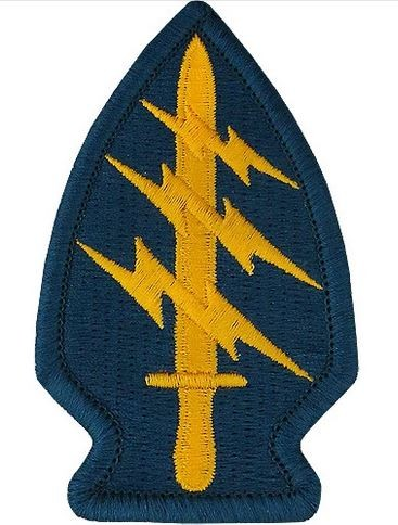 Patch Special Forces Class A blau/gelb