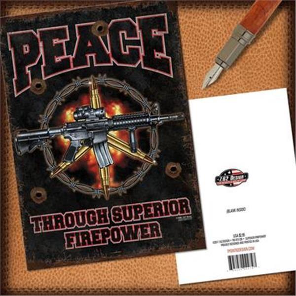 7.62 Peace Grußkarte