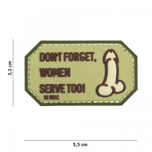 PVC 3D Patch dont forget women