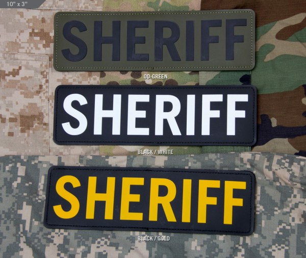 Mil Spec Monkey Patch PVC SHERIFF