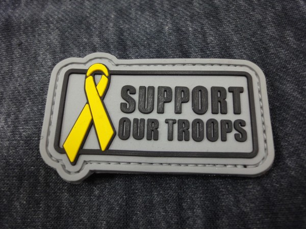 PW Support our troops 3D PVC Patch
