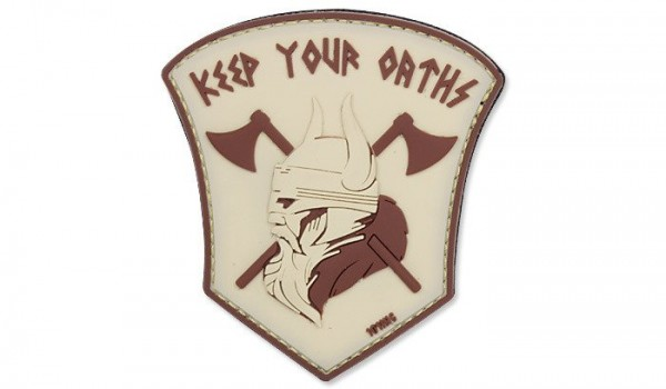 PVC 3D Patch Keep you oaths