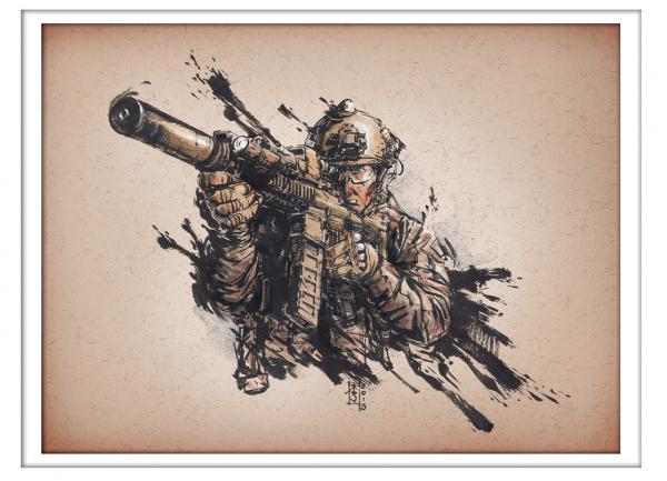 Marc Lee Military Art Tac Ink (gerahmt)