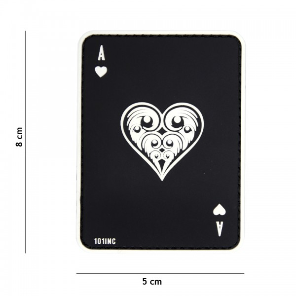 Patch 3D PVC ace of hearts