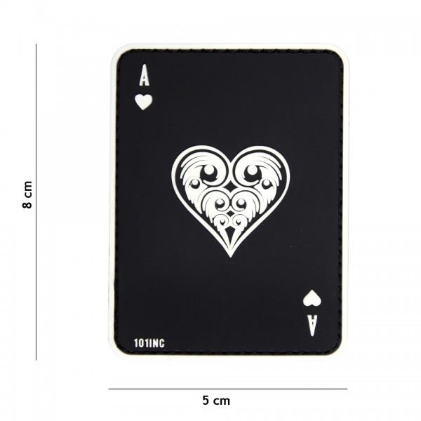 Patch 3D PVC ace of hearts