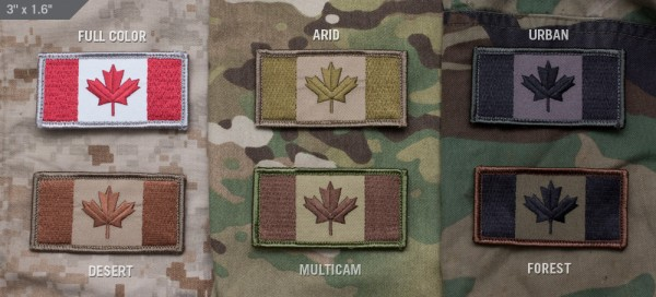 Mil Spec Monkey Patch kanadische Flagge