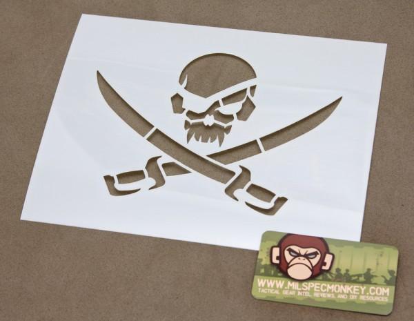 Mil Spec Monkey PirateSkull Schablone