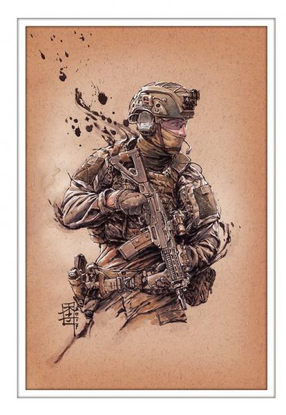 Marc Lee Military Art Swiss AAD10 (gerahmt)