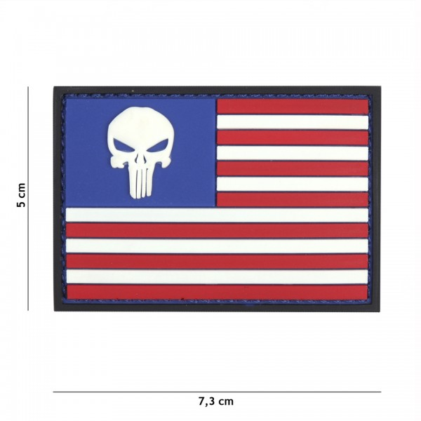 3D PVC Punisher USA Flagge Patch