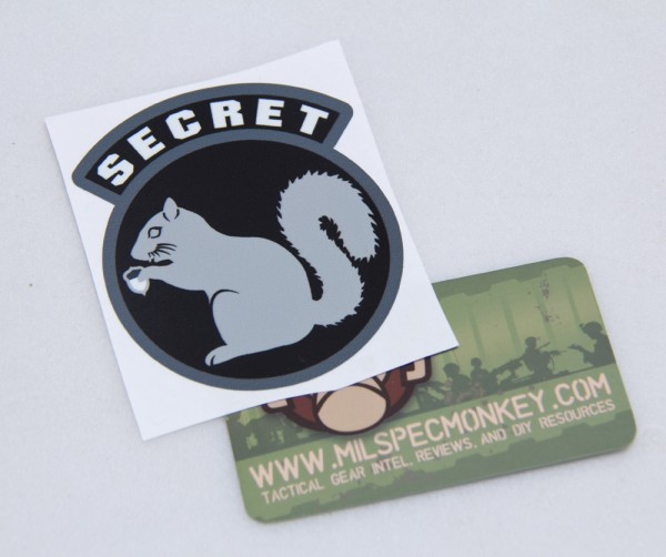 Mil Spec Monkey Secret Squirrel Sticker