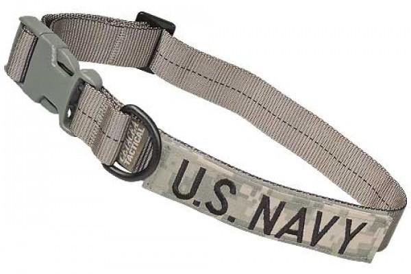 Cetacea Taktisches Hundehalsband U.S. NAVY mit Patch
