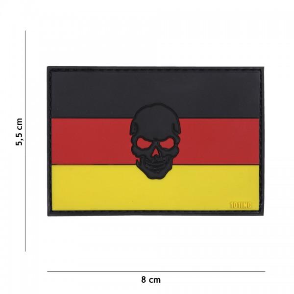 3D PVC Flagge Deutschland Skull Patch