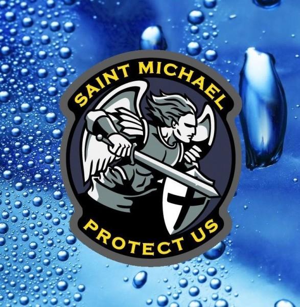Saint Michael Protect us Sticker