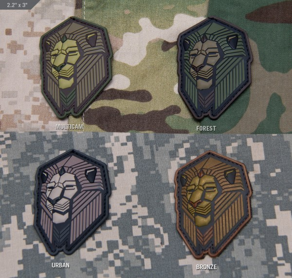 Mil Spec Monkey Patch Industrial Lion PVC