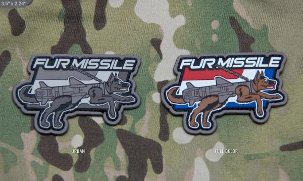 Mil Spec Monkey Patch Fur Missile Pelzrakete PVC
