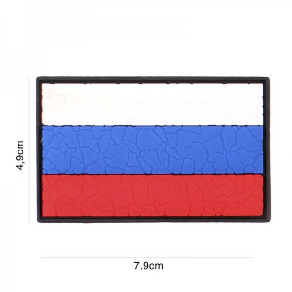 Patch 3D PVC Russia cracked