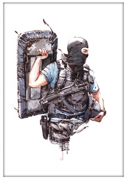 Marc Lee Military Art Hong Kong SDU (gerahmt)