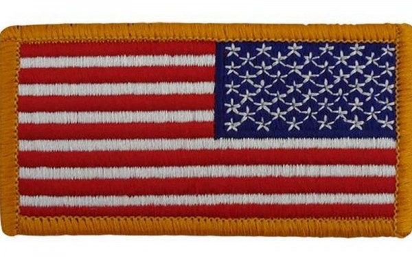 US Army Full Color US Flagge Reverse Patch