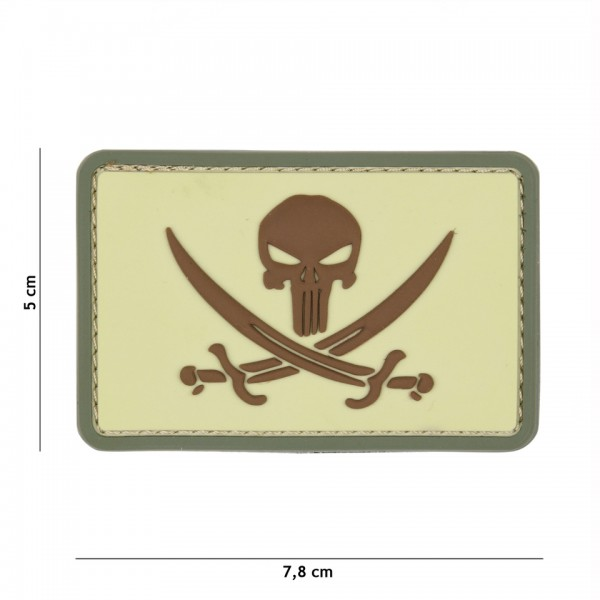 PVC punisher pirate Patch