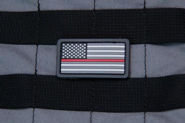 Mil Spec Monkey Patch US Flag PVC Mini Thin Red Line