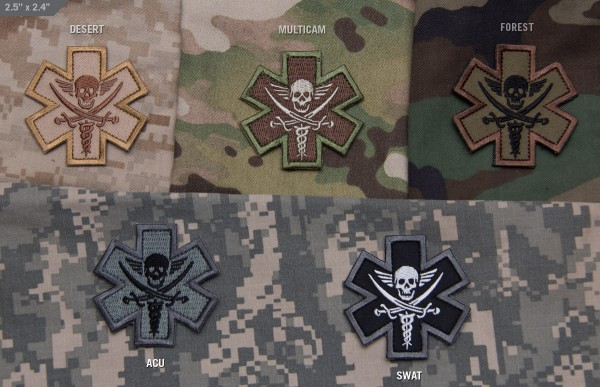 Mil Spec Monkey Patch Tactical Medic Pirate