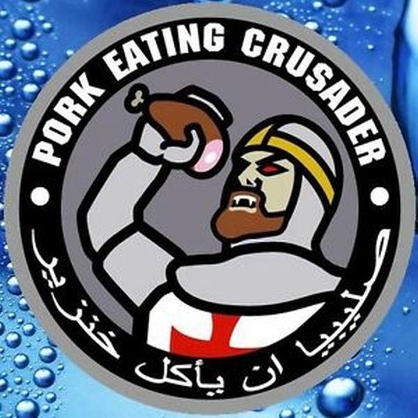 Mil Spec Monkey Pork eating Crusader Sticker