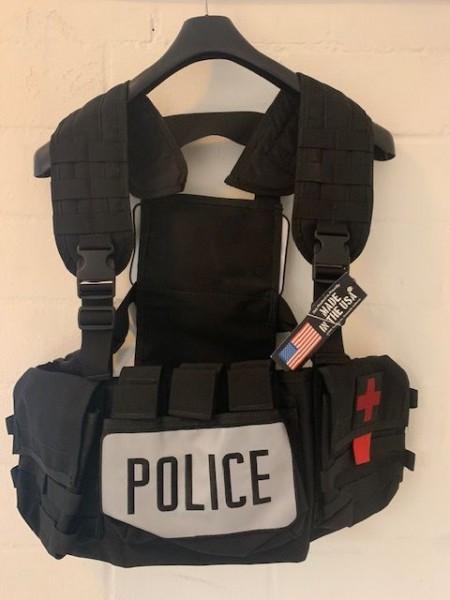BDS Tactical Police Polizei Chest Rig Weste für 5.56 Mags und IFAK