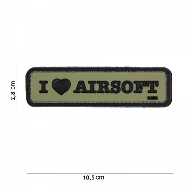 3D PVC i love airsoft Patch