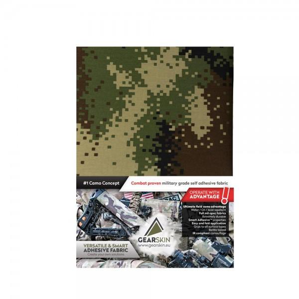 Gearskin EXTRA Tarnklebefolie Digital Woodland V1