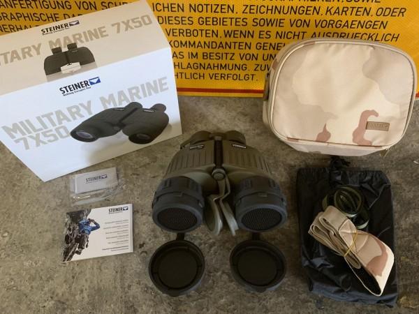 Steiner Military Marine 7x50 Fernglas Typ M22 inkl. Tanebaex Killflash Reflektionsschutz