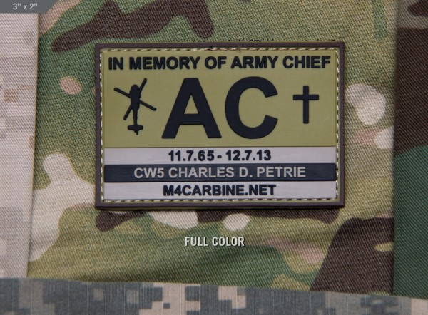 Mil Spec Monkey Patch Army Chief CW5 Charles D Petrie PVC