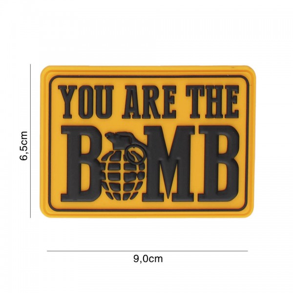 3D PVC You Are The Bomb Patch